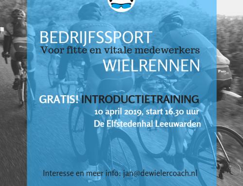 Bedrijfssport wielrennen,  gratis kennismakingstraining